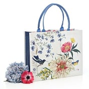 Product Image. Title: Scrapbook Bird Tote Bag (15 3/4 x 5 3/4 x 13)
