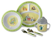 Product Image. Title: Peter Rabbit 5 Piece Feeding Set