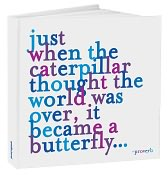 Product Image. Title: Caterpillar Quote Blue Bound Journal 8x8