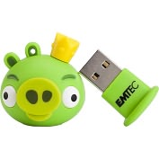 Product Image. Title: EMTEC A101 Angry Birds 4 GB USB 2.0 Flash Drive - King Pig