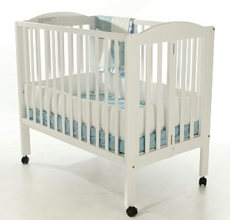 Dream On Me, 2 in 1 Folding Portable Crib, White