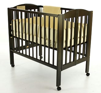 Dream On Me, 3 in 1 Folding Portable Crib, Espresso
