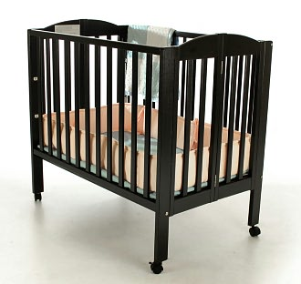 Dream On Me, 3 in 1 Folding Portable Crib, Black