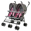 Product Image. Title: Dream On Me, Twin Umbrella Stroller, Pink