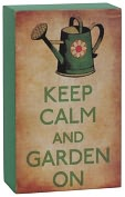 Product Image. Title: Garden On Green Small Wood Box sign(5x3.5x1.75)