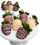 Product Image. Title: 12 Pastel Belgian Chocolate Covered Strawberries