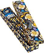 Product Image. Title: Vera Bradley Ellie Blue Pencil Box - 10 Pencils and Sharpener