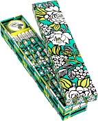 Product Image. Title: Vera Bradley Island Blooms Pencil Box - 10 Pencils and Sharpener