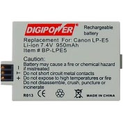 Product Image. Title: DigiPower BP-LPE5 Digital Camera Battery
