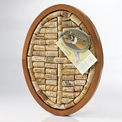 Product Image. Title: Oval Wine Cork Trivet Kit