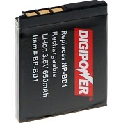 Product Image. Title: Mizco Digipower BP-BD1 Lithium Ion Digital Camera Battery