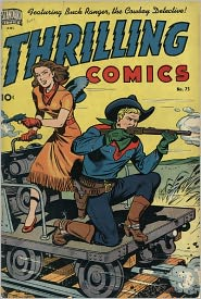 Thrilling Comics Number 75 Western Comic Book