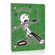 Product Image. Title: Diary of a Wimpy Kid Green Snore 1 Subject Lined Notebook