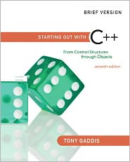 Starting Out with C++: From Control Str...