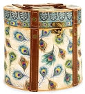 Product Image. Title: Large Peacock Oval Box