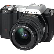 Product Image. Title: Pentax K-01 16.3 Megapixel Mirrorless Camera (Body with Lens Kit) - 18 mm - 55 mm (Lens 1), 50 mm - 200 mm (Lens 2) - Black
