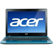 "Product Image. Title: Acer Aspire One AO725-C62bb 11.6"" LED Netbook - AMD C-Series C-60 1 GHz"