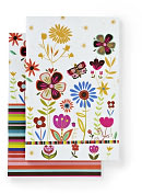 Product Image. Title: 100% Recycled Butterfly Garden Lined Bound Journals 6x9 Set of 2