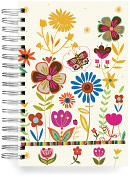 Product Image. Title: 100% Recycled Butterfly Garden Lined Spiral Journal 6x9