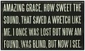 Product Image. Title: Amazing Grace, How Sweet the Sound that Saved a Wretch Like Me Box Sign 10x6