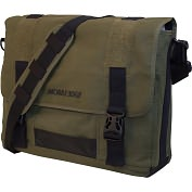 "Product Image. Title: Mobile Edge 17.3"" Eco-Friendly Canvas Messenger Bag"