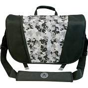 "Product Image. Title: SUMO Carrying Case (Messenger) for 17.1"" Notebook - Black, Silver"