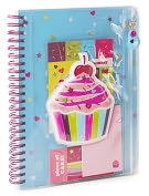 Product Image. Title: Puffy Cupcake Lined Journal (6 x 8)