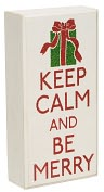 Product Image. Title: Box Sign - Keep Calm be Merry