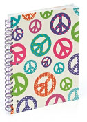"Product Image. Title: Peace Pearl 3-Subject Lined Notebook (8.5""x11"")"
