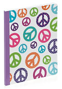 "Product Image. Title: Peace Lined Composition Book (7.5""x9.75"")"