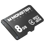 Product Image. Title: Monster Cable 8 GB MicroSD High Capacity (microSDHC) - 1 Card