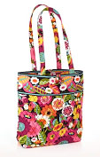 Product Image. Title: Vera Bradley VaVa Bloom Fabric Tote (11  x 13  x 4 )