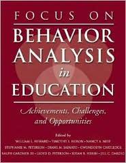 Focus on Behavior Analysis in Education...