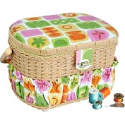 Product Image. Title: Michley Sewing Basket with 41 Pcs Sewing Kit FS-095