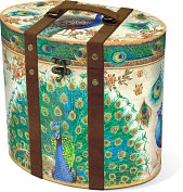 Product Image. Title: Royal Peacock Small Tall Oval Box