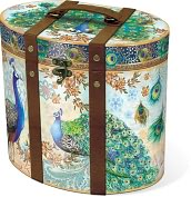 Product Image. Title: Royal Peacock Tall Oval Box Large ( 10 x 7.75 x 9)