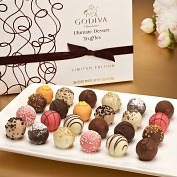 Product Image. Title: Godiva 24 Piece Ultimate Dessert Truffles Box