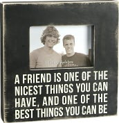 Product Image. Title: A Friend is One of the Best Things Box Frame 4x6