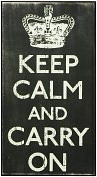 Product Image. Title: Keep Calm Black Wood Box Sign/Plaque (13x7)