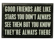 Product Image. Title: Good Friends Wood Box Sign/Plaque (4x6)