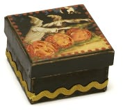 Product Image. Title: Three Pumpkins Halloween Square Box 2.5x2.5