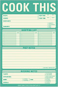 Product Image. Title: Cook This Large List Pad 60 Sheets