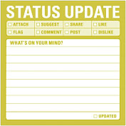 Product Image. Title: Status Update Sticky Notes 100 Sheets