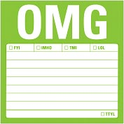 Product Image. Title: OMG Sticky Notes 100 Sheets