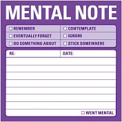 Product Image. Title: Mental Notes Sticky Note 100 Sheets