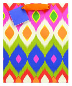 Product Image. Title: Ikat Medium Gift Bag