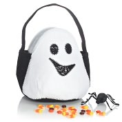 Product Image. Title: Ghost Felt Halloween Treat Bag (8 x 8)