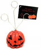 Product Image. Title: 3 Prong Halloween Jack o Lantern Photo Clip