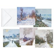Product Image. Title: MONET SNOWSCENES FOLIO CHRISTMAS BOXED CARD