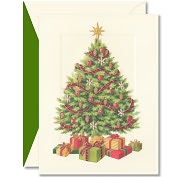 Product Image. Title: MERRY TREE CHRISTMAS BOXED CARD